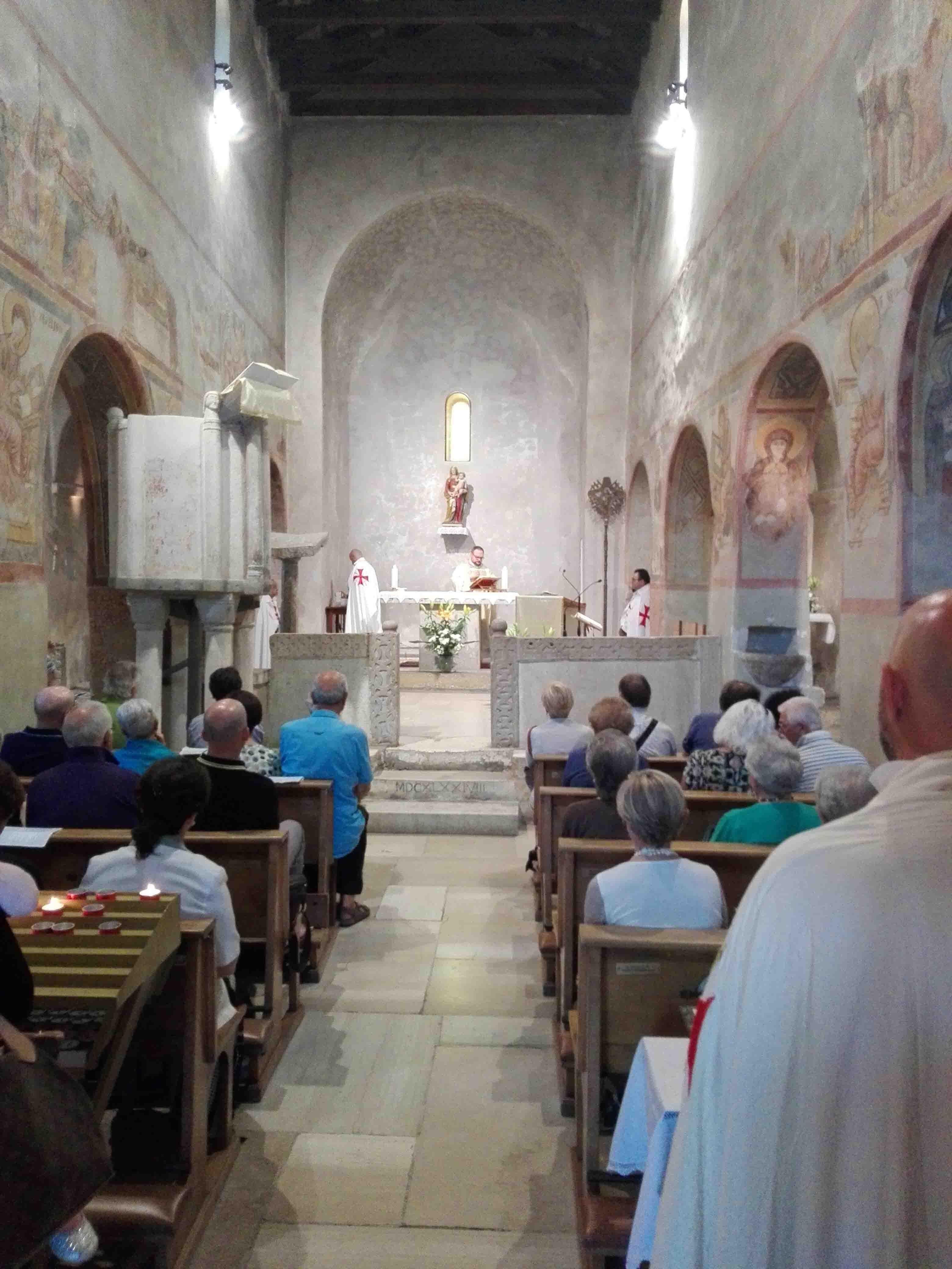 I Templari Cattolici d'Italia in occasione della Solennità della Santissima Trinità partecipano alle celebrazioni presso la chiesa templare Basilica di Santa Maria Assunta a Muggia Vecchia.