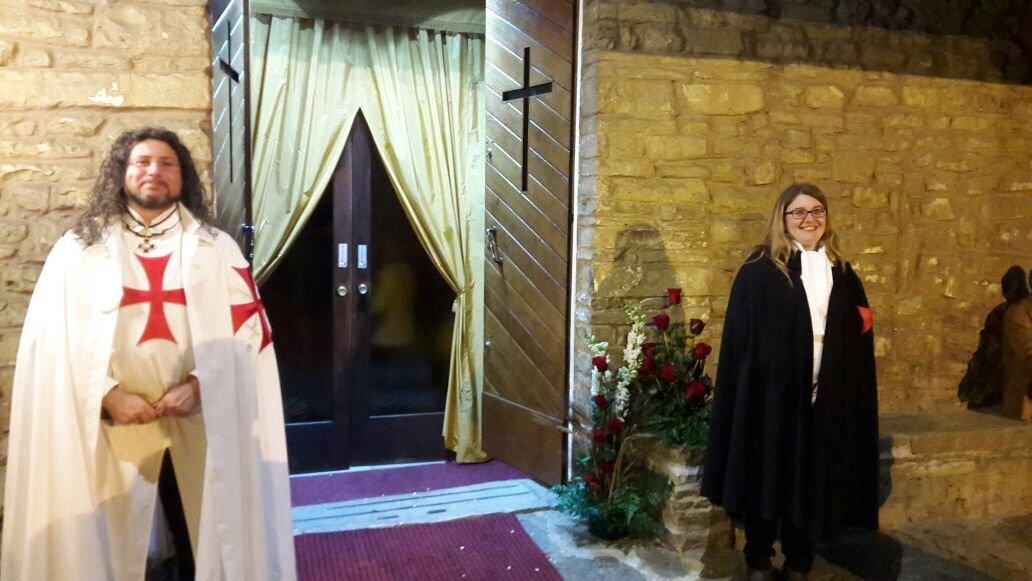 I Templari Cattolici d'Italia partecipano alla Santa Messa Pasquale a Muggia Vecchia.