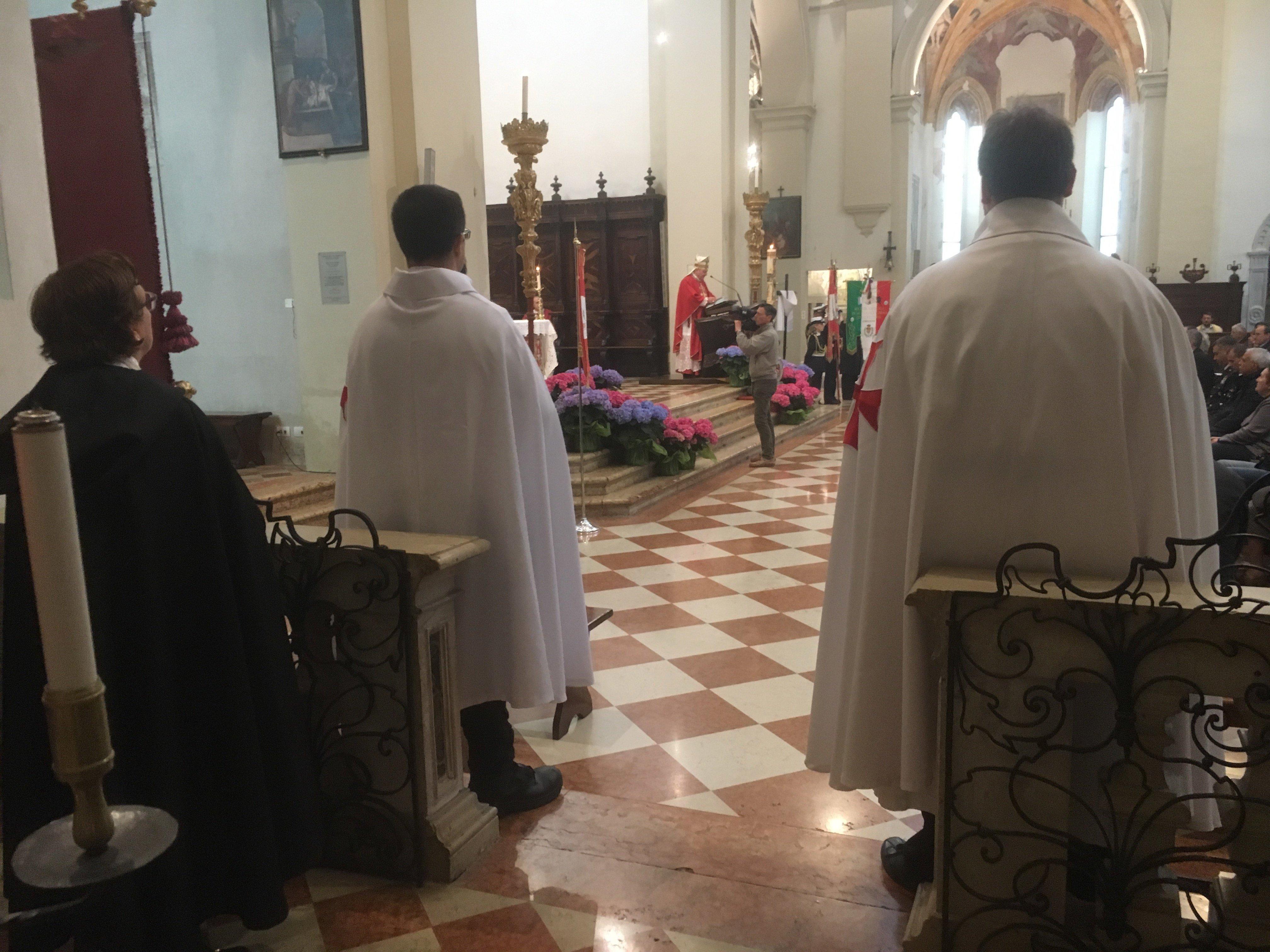 I Templari Cattolici d'Italia prestano servizio in occasione del Santo Patrono San Marco a Pordenone, al Pontificale del Vescovo.