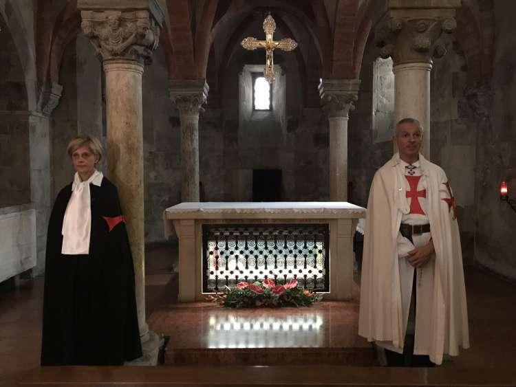 I Templari Cattolici d'Italia prestano servizio presso il duomo di Fidenza in occasione della festa di San Donnino.