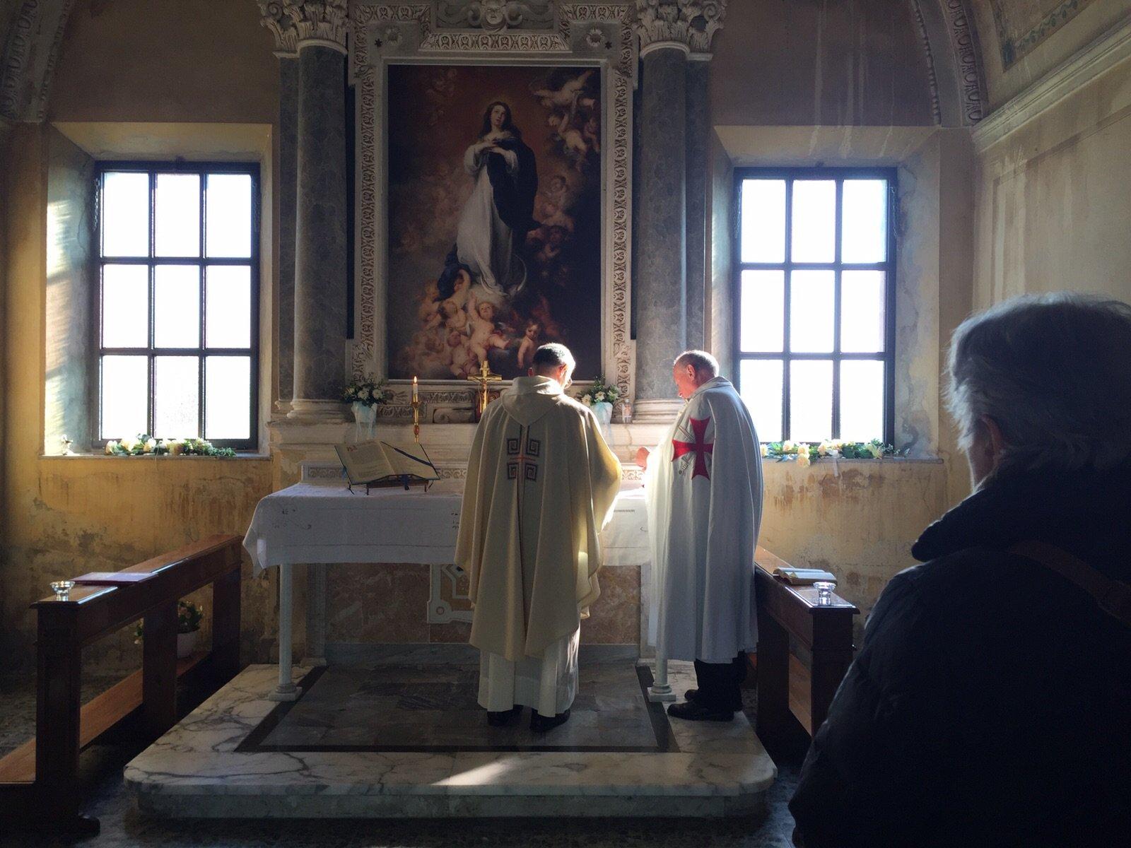 I Templari Cattolici d'Italia prestano servizio durante la settimana Mariana
