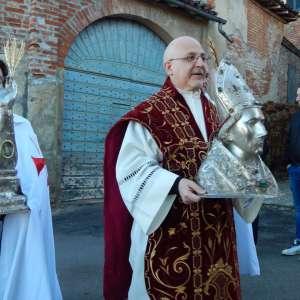 Il Vicario Generale della Diocesi di Casale Monferrato presenzia la Santa Messa per la Festa di San Valerio a Lu (Al)