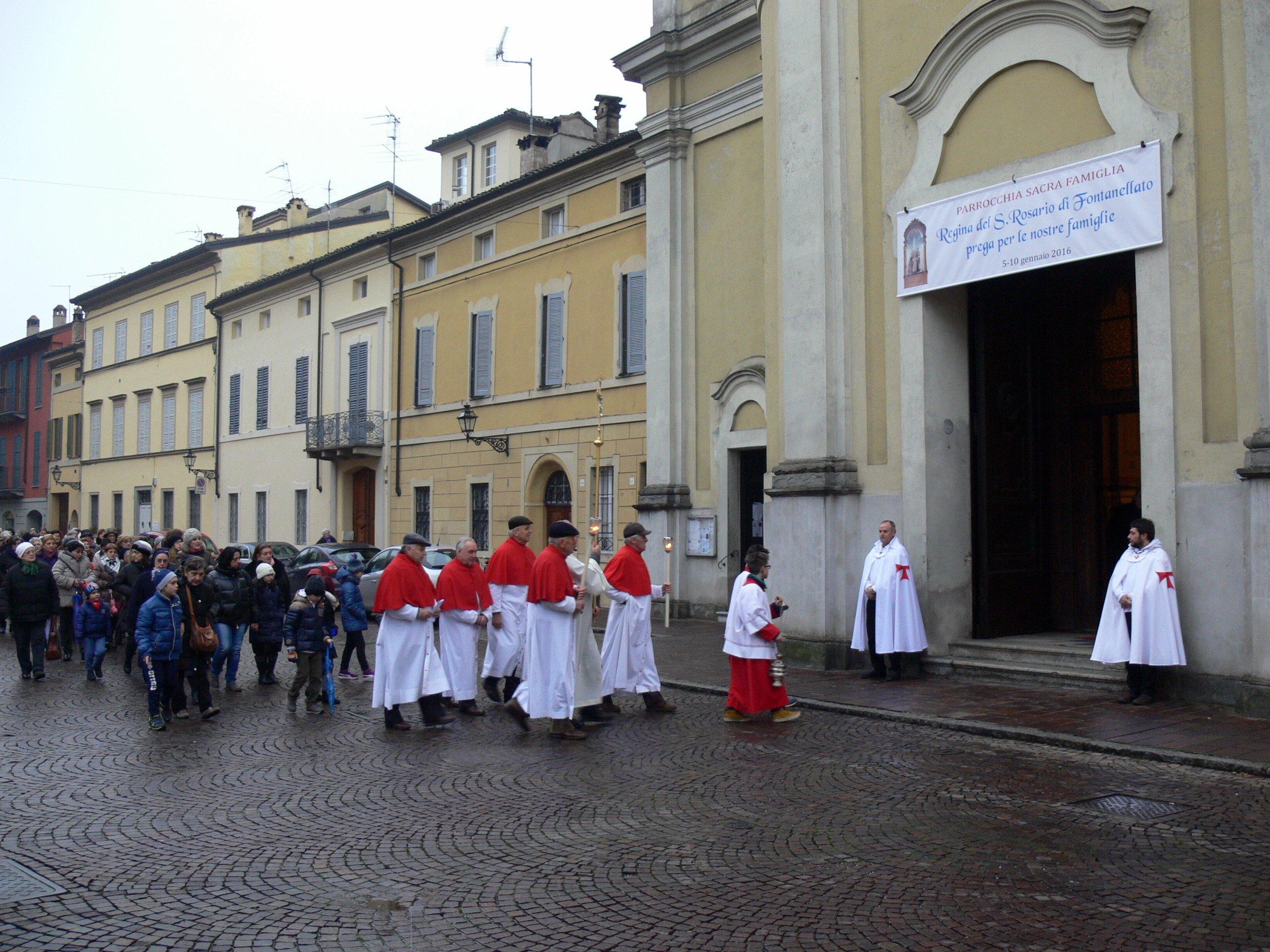 Templari Cattolici d'Italia con Vescovo Fidenza Carlo Mazza