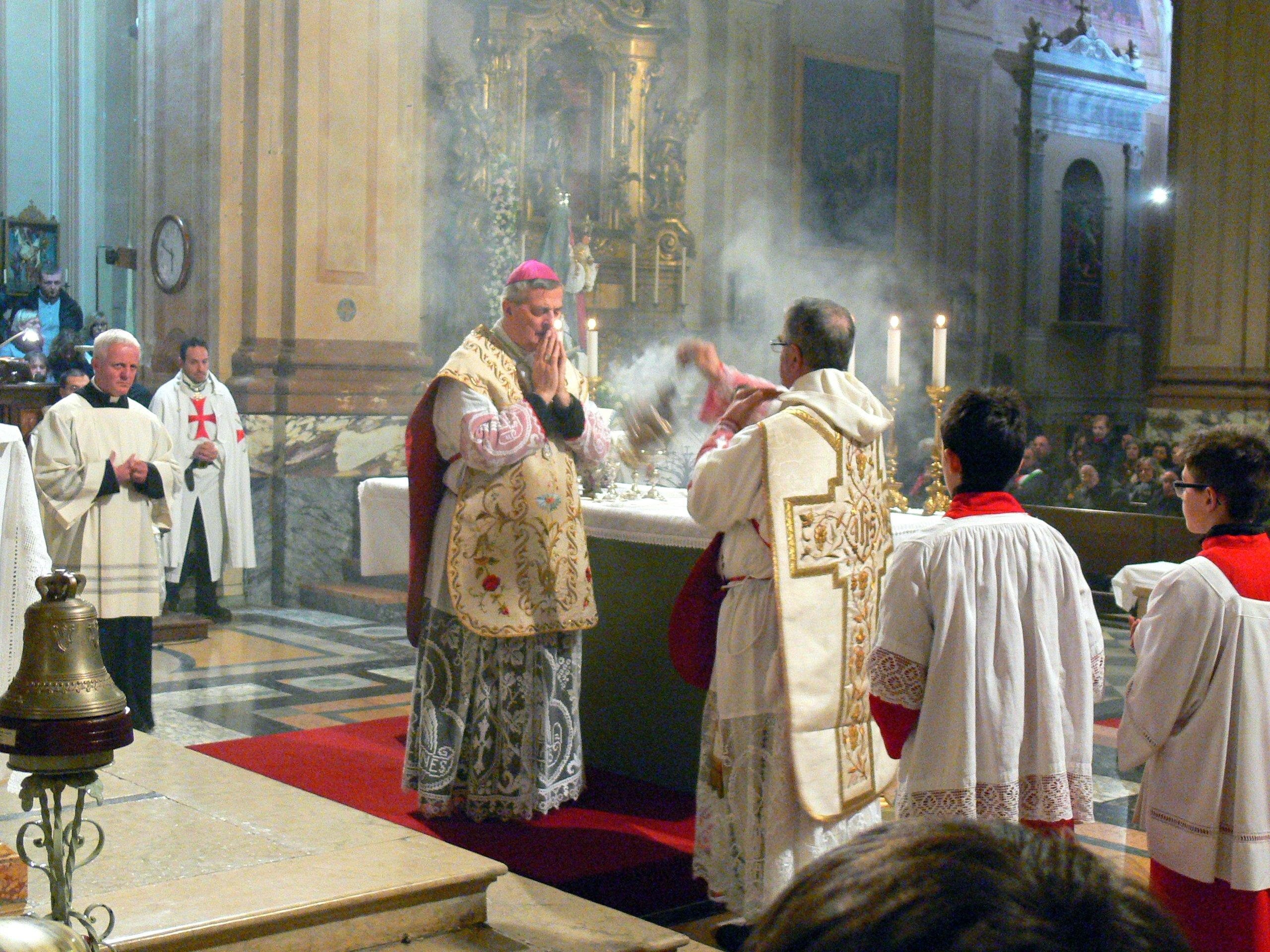 Templari Cattolici d'Italia con Vescovo Fidenza Carlo Mazza e Padre Davide Traina