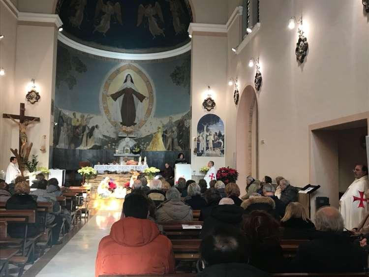 I Templari Cattolici d'Italia partecipano alla Celebrazione Eucaristica nella solennità dell'Epifania a Sambucheto, Macerata.