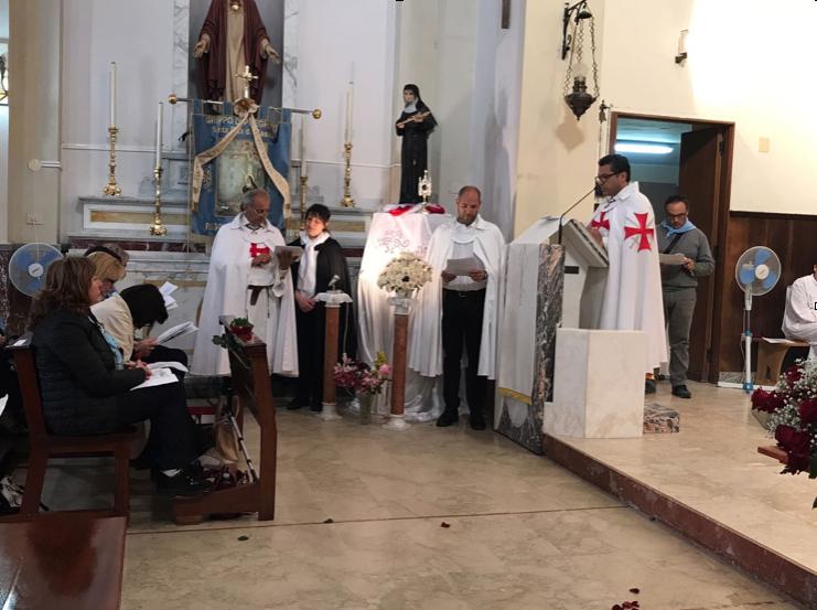 I Templari Cattolici d'Italia partecipano alle celebrazioni per la solennità di Santa Rita a Reggio Calabria.