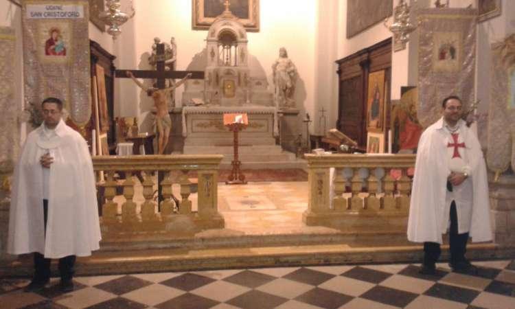 Templari Cattolici d'Italia prestano servizio presso la chiesa di San Cristoforo, Udine