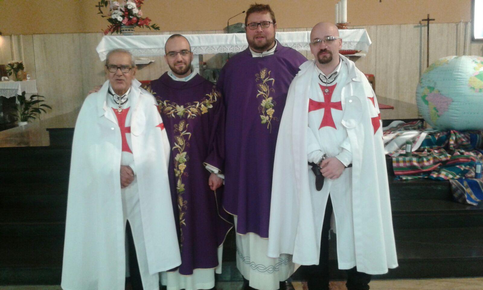 I Templari Cattolici d'Italia partecipano alla Santa Messa con La Comunità Missionaria di Villaregia, Trieste