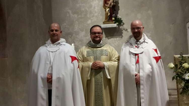 I Templari Cattolici d'Italia partecipano alla Santa Messa in occasione della festività della Presentazione di Nostro Signore presso la basilica di Muggia.