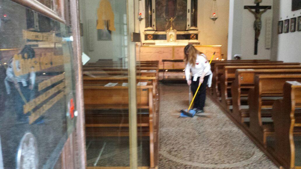 I Templari Cattolici d'Italia in occasione del Venerdì Santo prestano servizio presso la chiesa dell'Immacolata a Gorizia.