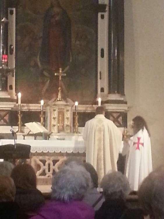 I Templari Cattolici d'Italia partecipano alla Santa Messa a Gorizia in occasione del mese mariano.