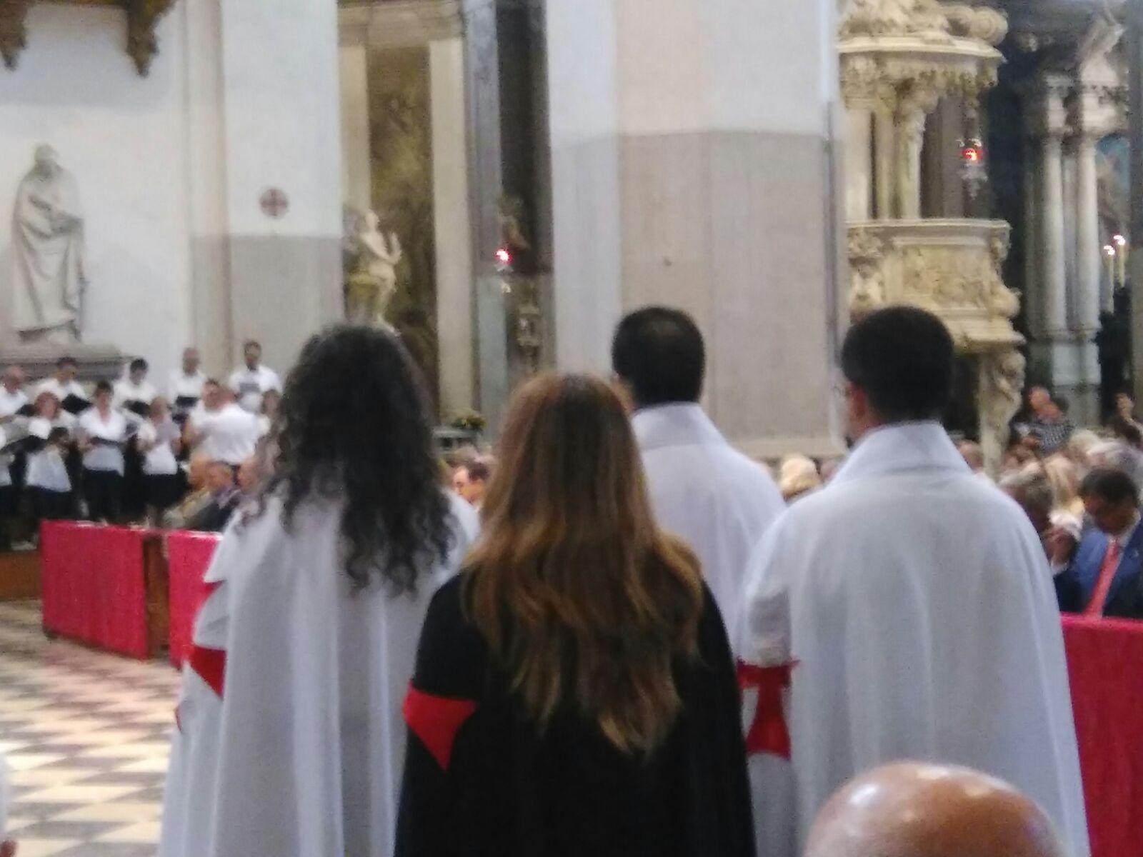 I Templari Cattolici d'Italia partecipano alla Santa Messa solenne con benedizione della città di Udine per la festività dei Santi Patroni.