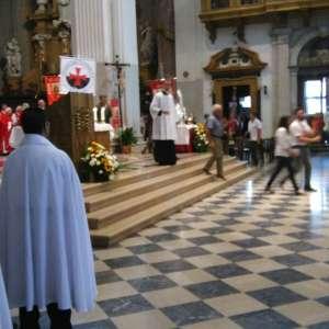 I Templari Cattolici d'Italia alle festività patronali di Udine con S.E Mons. Andrea Bruno Mazzocato, arcivescovo metropolita della Diocesi di Udine ed abate di Rosazzo