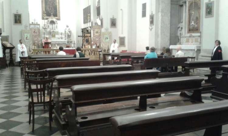 I Templari Cattolici d'Italia partecipano all'apertura straordinaria della chiesa di San Cristoforo di Udine.