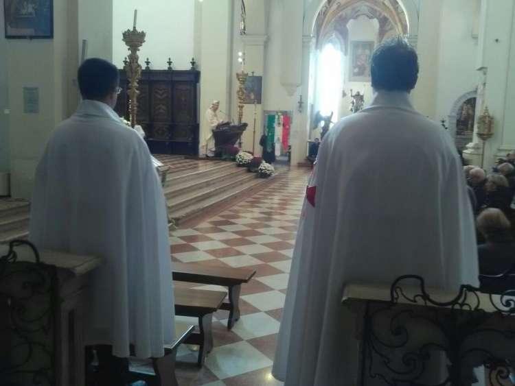 I Templari Cattolici d'Italia prestano servizio presso il Duomo Concattedrale San Marco di Pordenone in occasione della solennità di Ogni Santi.