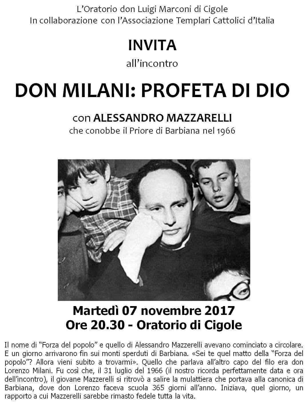 Templari Don Lorenzo Milani