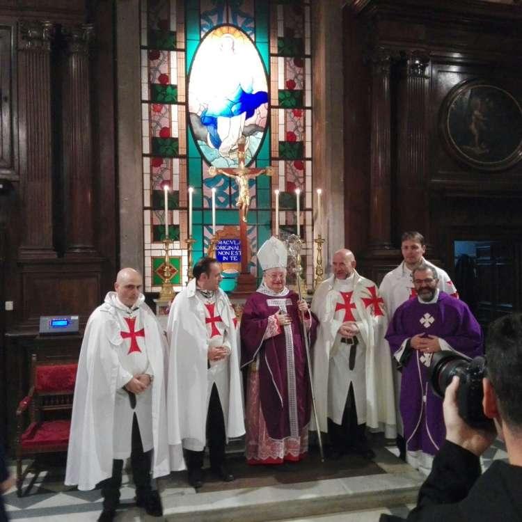 Templari Cattolici d'Italia con S.Em. Giuseppe card. Bertello Presidente del Governatorato dello Stato della Città del Vaticano