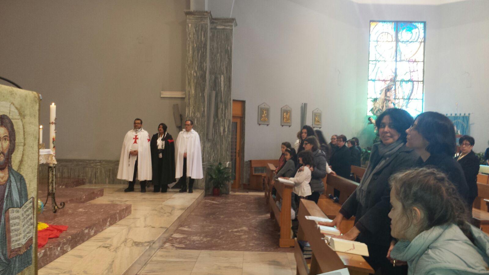 I Templari Cattolici d'Italia partecipano alla Celebrazione Eucaristica presso la chiesa parrocchiale a Reggio Calabria