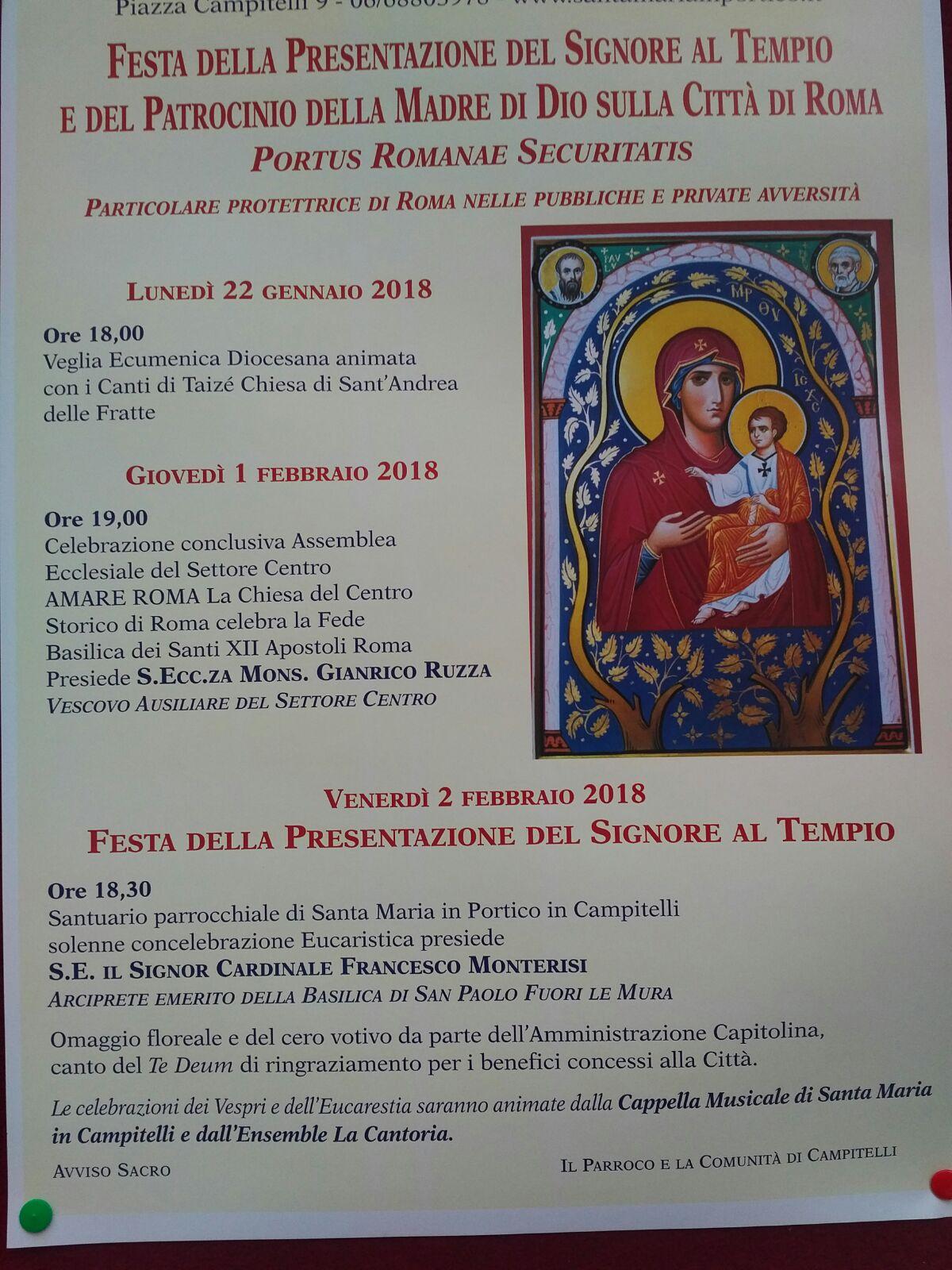 Roma 2018 - Festa della Presentazione Del Signore al Tempio