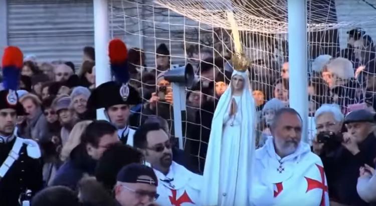 I Templari Cattolici d'Italia scortano la Madonna Pellegrina di Fatima a Meda, Monza e Brianza