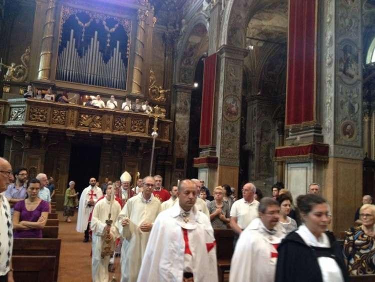Templari con mons. Perego Vescovo di Ferrara