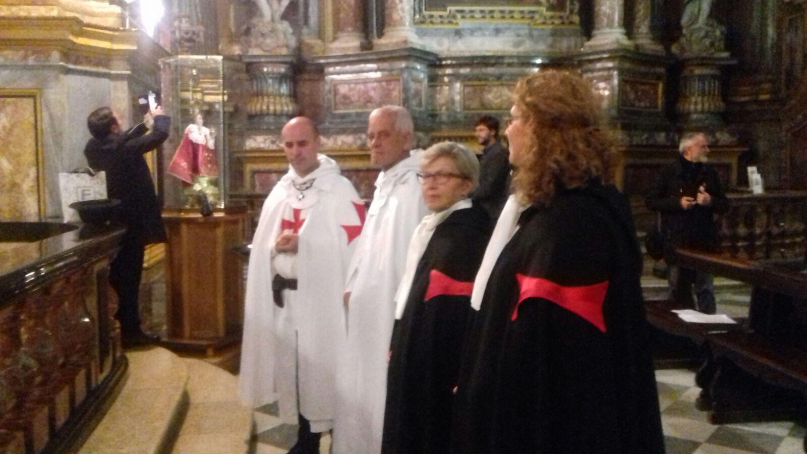 I Templari Cattolici d'Italia partecipano alla Santa Messa in Onore di Santa Teresa d'Avila.