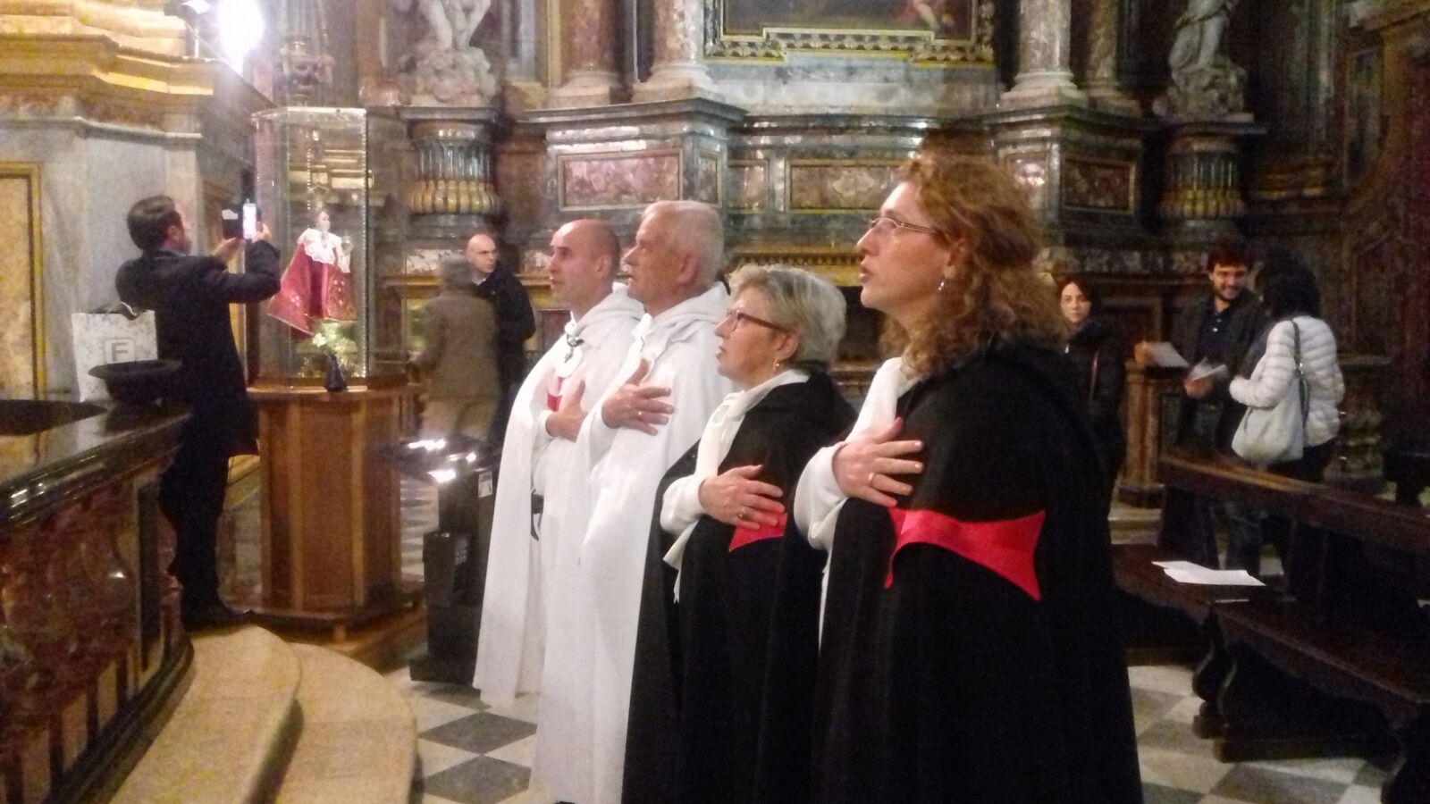 I Templari Cattolici d'Italia partecipano alla Santa Messa in Onore di Santa Teresa d'Avila